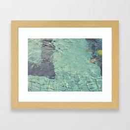 Pool swimming Framed Art Print