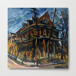 African American Masterpiece 'Jacobia Hotel' Florence, South Carolina by William Henry Johnson Metal Print