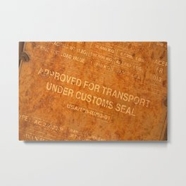 Approved for Transport Metal Print