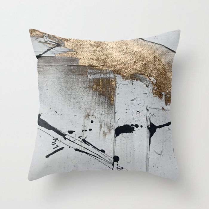 Moth pillow cover Black gold coushion