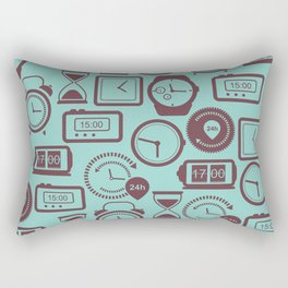 Pattern with watches Rectangular Pillow