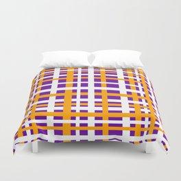 Purple & Orange Interlocking Stripes Duvet Cover