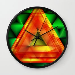 Ruby triangle Wall Clock