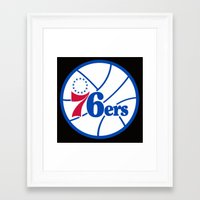 nba Framed Art Prints featuring NBA - 76ers by Katieb1013