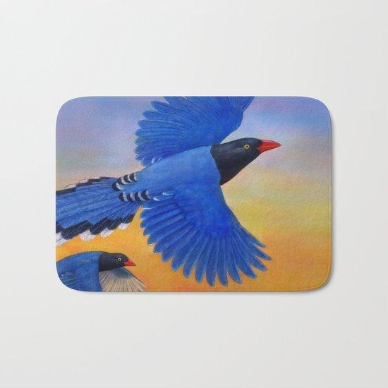 Taiwan Blue Magpie(1) Bath Mat