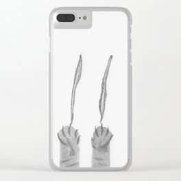 Scratching Paws Clear iPhone Case