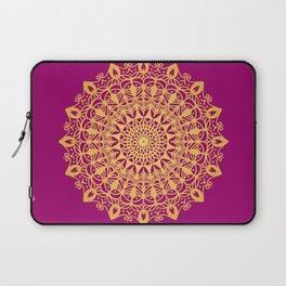 Gold yoga mandala Indian henna pattern Laptop Sleeve