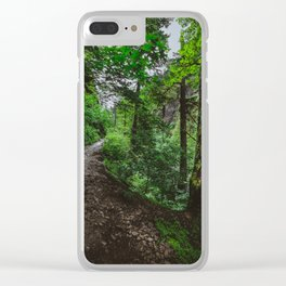 Trailblazing Clear iPhone Case