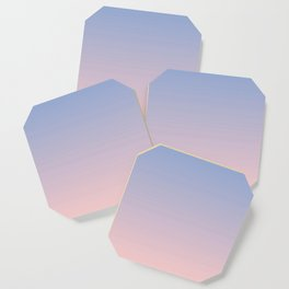 Ombre | Serenity and Rose Quartz | Pantone Colors of the Year 2016 Coaster