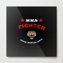 MMA Fighter Tiger Metal Print