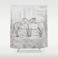 best friends Shower Curtains featuring Best Friends by Diane Johnson