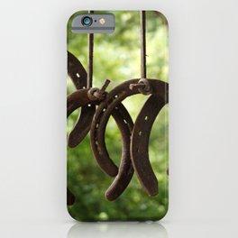 Rusty Horseshoes iPhone Case