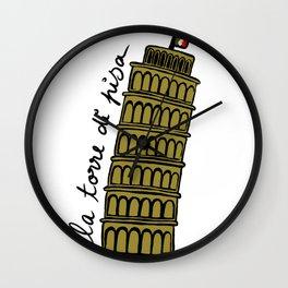 La Torre di Pisa Wall Clock