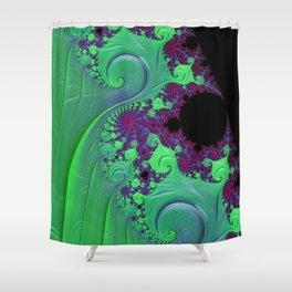 Euphoric Seahorse - Fractal Art Shower Curtain