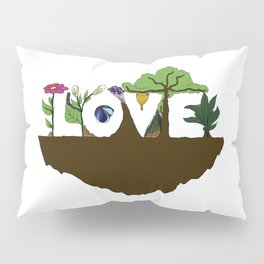 Love for Nature in Negative Space Pillow Sham