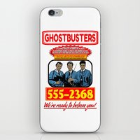 ghostbusters iPhone & iPod Skins featuring Ghostbusters Advertisement by Silvio Ledbetter