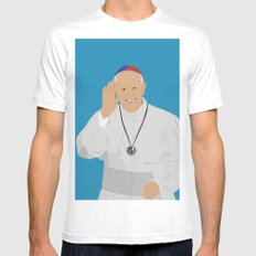 Pope Francis - San Lorenzo version White SMALL Mens Fitted Tee
