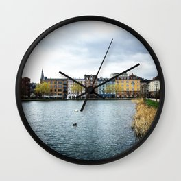 Cloudy, But Friday Wall Clock