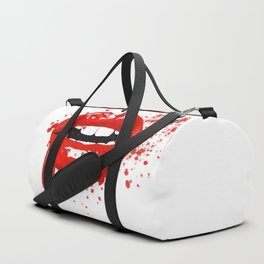 Red lips Duffle Bag