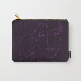 Picasso Line Art - Dove and Woman (Purple) Carry-All Pouch