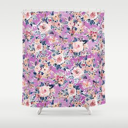 ROMANTIC AF Colorful Wild Floral Shower Curtain