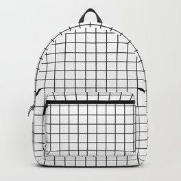 White Square Grid Backpack