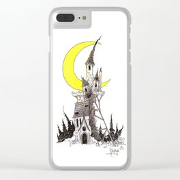 Crumbling Castle Clear iPhone Case
