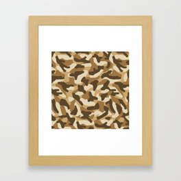Brown Camo Camouflage Framed Art Print