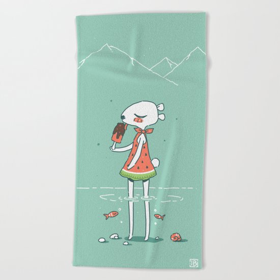 Summer Bear Beach Towel