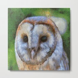 Tawny Owl In The Style of Camille Metal Print