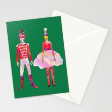 Nutcracker Ballet - Candy Cane Green Stationery Cards