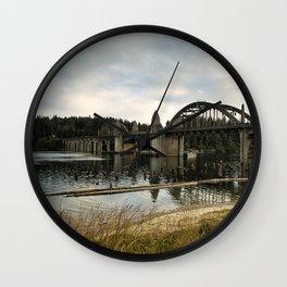 Siuslaw River Bridge Wall Clock