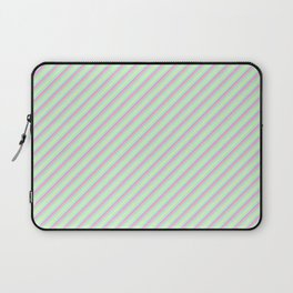 Pastel Tones Inclined Stripes Laptop Sleeve