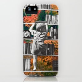 Learn, collage art by LocalHotelParking iPhone Case