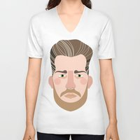 cassandra jean V-neck T-shirts featuring Jean by empi morin