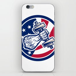 American Personal Trainer USA Flag Icon iPhone Skin