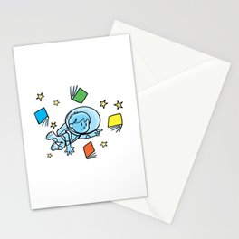 little astronaut and books Stationery Cards