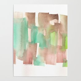 [161228] 8. Abstract Watercolour Color Study |Watercolor Brush Stroke Poster