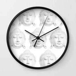 Zen Buddha Pattern - White Wall Clock