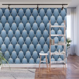 Blue Sky Scallops Wall Mural