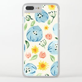 Morning Boldness flower pattern Clear iPhone Case