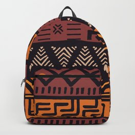 Tribal ethnic geometric pattern 021 Backpack