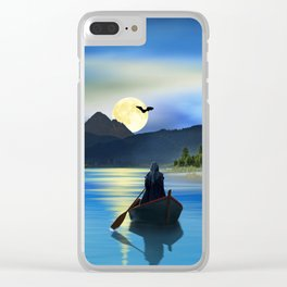 The mystic lake Clear iPhone Case