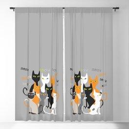 meow meow Blackout Curtain