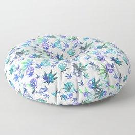 Skulls and Pot Leaves Floor Pillow