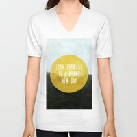 brand new V-neck T-shirts featuring Brand New Day by serenefolio
