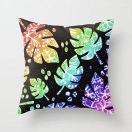 Rainbow Palm Throw Pillow