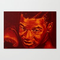 mike tyson Canvas Prints featuring tyson /variante/! by noblackcolor