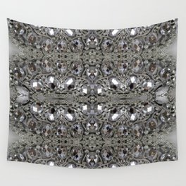 girly chic glitter sparkle rhinestone silver crystal Wall Tapestry