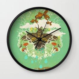 EVENING PSYCHEDELIA Wall Clock